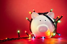 Xmas lights piggy_158734355