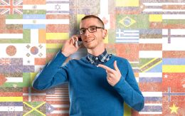 Foreign dude on phone_204890932