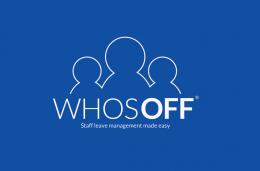 WhosOff_Logo_On_Blue_Solid