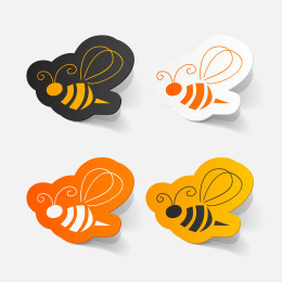 Bee Wasp icons_183293219